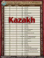 Kazakh Alphabet Chart